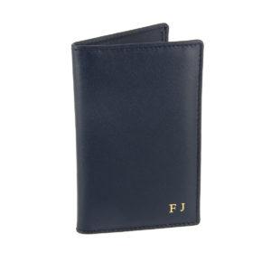 porte-cartes-6-cartes-cuir-bleu-marine-init